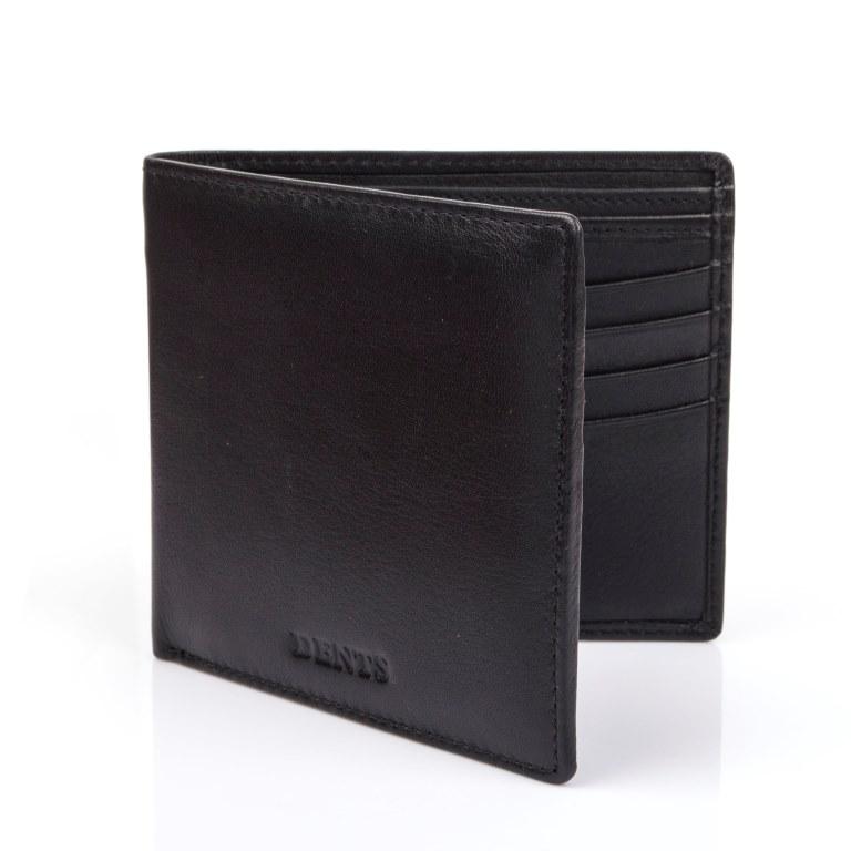 Dents Smooth Leather Slim Wallet Black