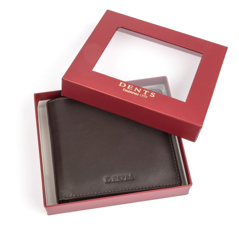 Smooth Leather Slim Wallet Chocolate