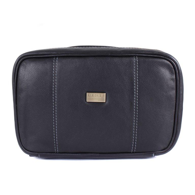 Dents Pebble Grain Leather Wash Bag