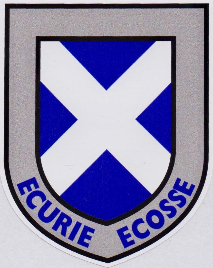 Ecurie Ecosse Scottish Saltire Shield Sticker