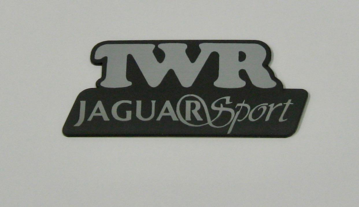 TWR Jaguar Sport Logo Laser Cut Self Adhesive Car Badge