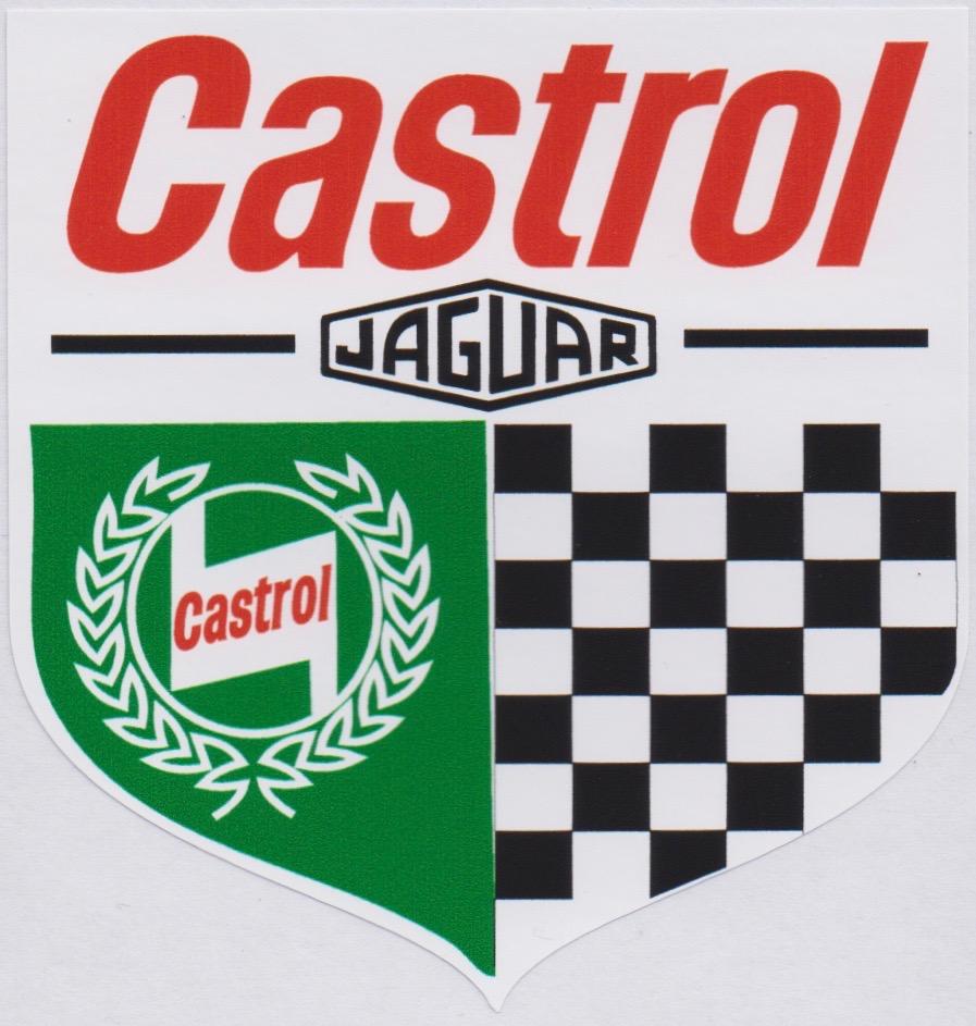 Jaguar Castrol Chequered Shield Sticker
