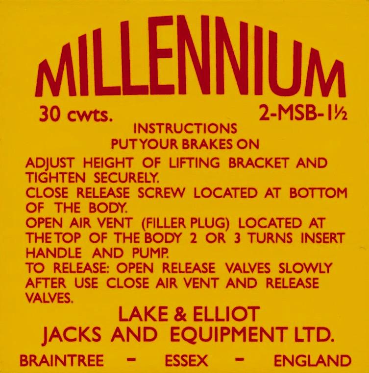 Millennium Jacks and Equipment Sticker