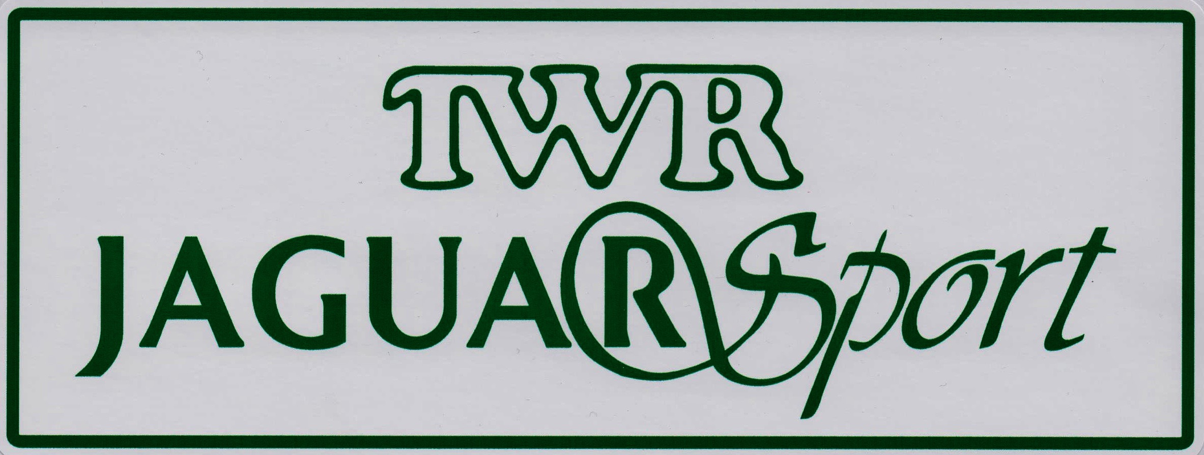 TWR Jaguar Sport Sticker