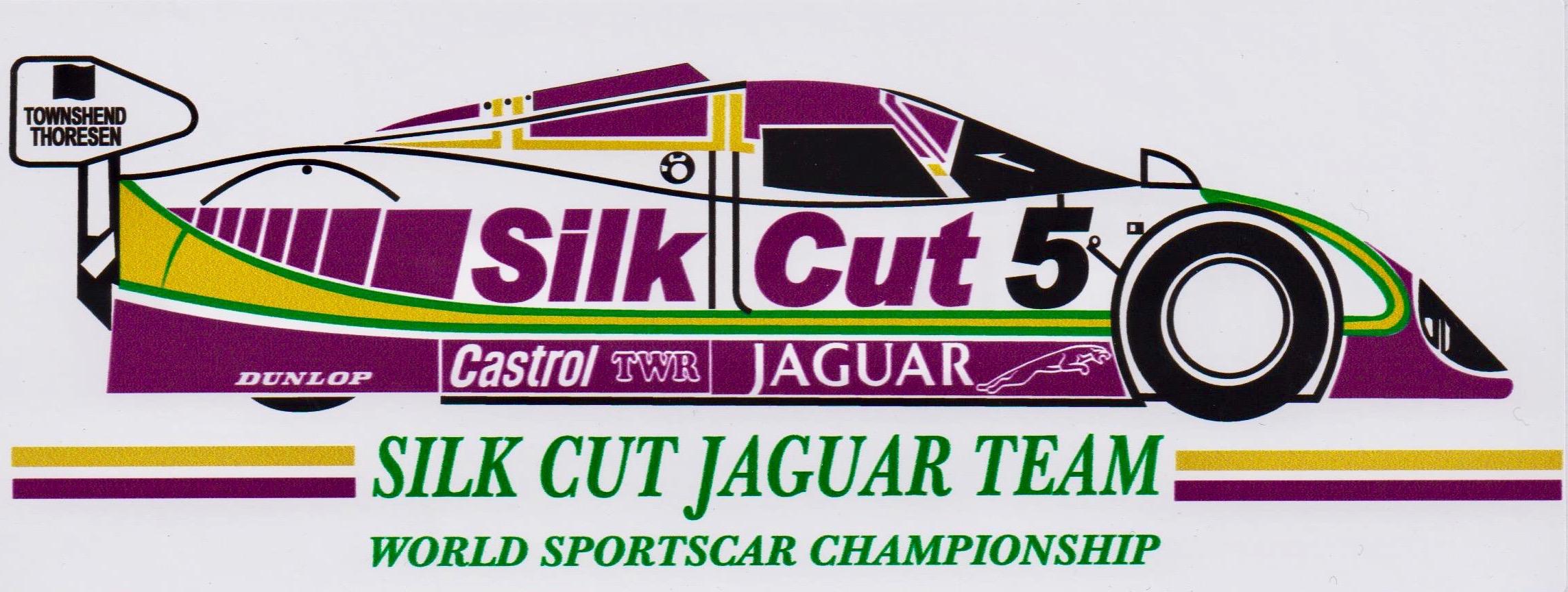 Jaguar Silk Cut Le Mans XJR15 Sportscar Sticker