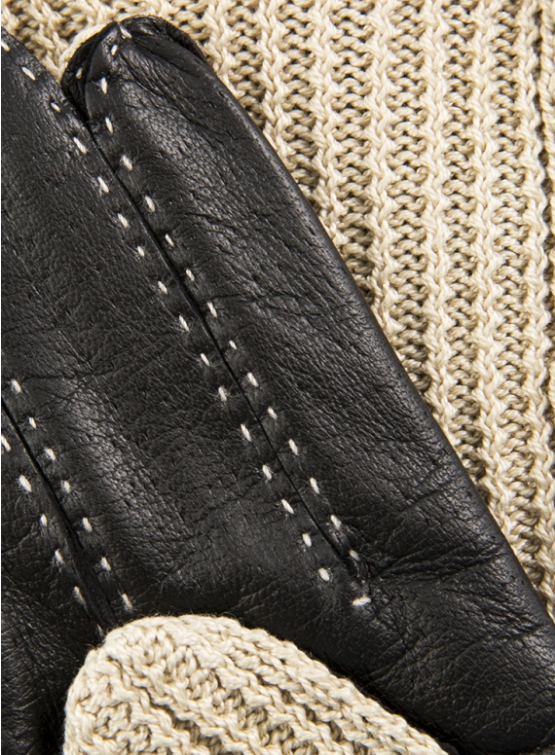 Kelly - Women's Crochet Back Driving Gloves in Black
