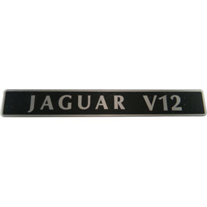 Jaguar V12 Inlet Manifold Badge EBC2843