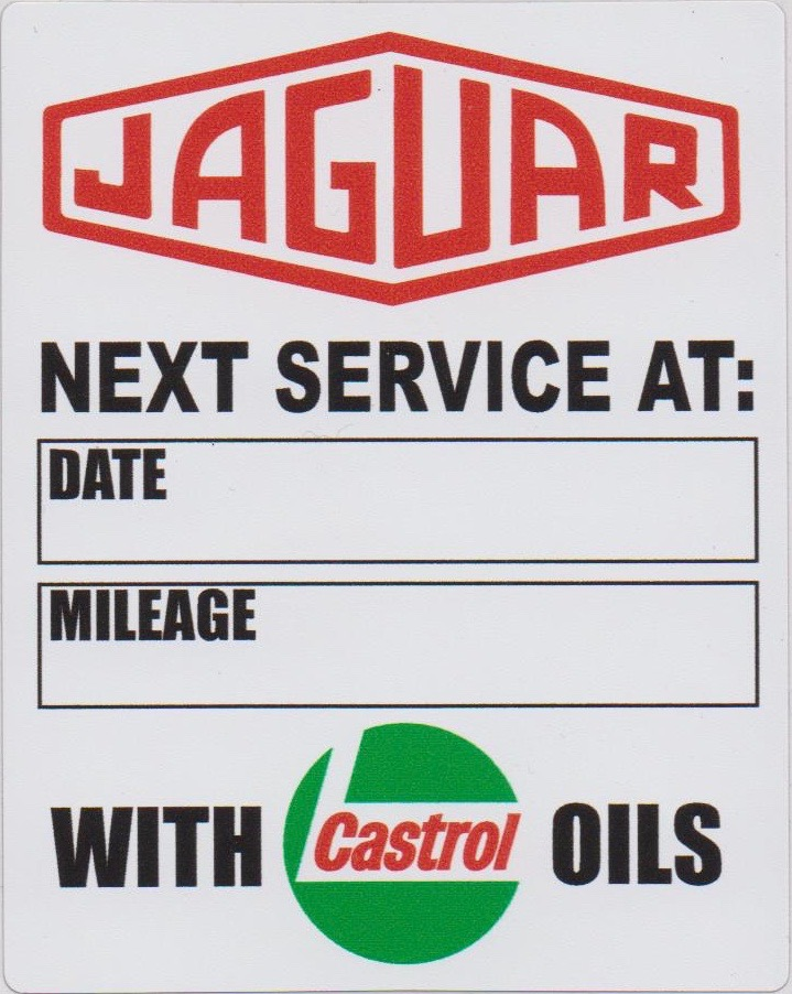 Jaguar With Castrol Oils Service Sticker