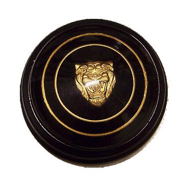 Classic Jaguar Horn Push Badge