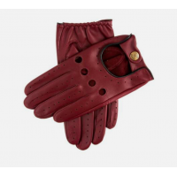 Classic Leather Driving Gloves Wine/Black
