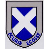 Ecurie Ecosse Scottish Saltire Shield Sticker
