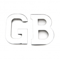GB Letters in Stainless Steel
