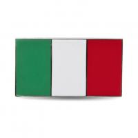 Enamel Italian Flag Stick On Badge