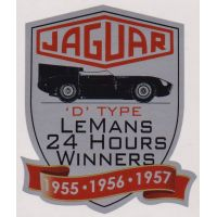 Jaguar D-Type Le Mans 1955, 56, 57 Sticker