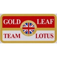 Gold Leaf Team Lotus Sticker
