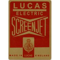 Lucas Electric Screen Jet Sticker