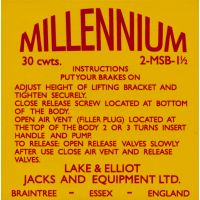 Millennium Jacks and Equipment Sticker