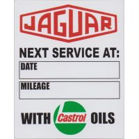 Jaguar With Castrol Oils Service Sticker