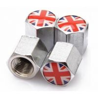Union Jack Tyre Valve Stem Caps