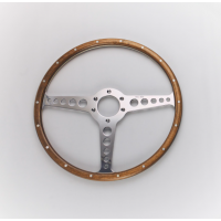 Jaguar E-Type OEM T-Spoke Wood Rim with Rivets Moto-Lita 15""